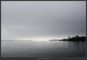 fog over the lake by MidnightDaisyStudio