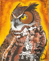 Great Horned Owl by SoulFragments