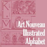 Art Nouveau Illustrated ABC by remittancegirl