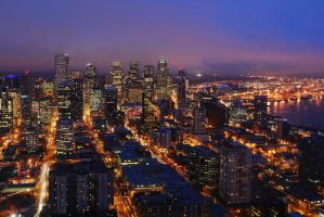 Seattle Downtown by porbital