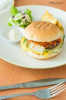 Asian beef Burger by ZhenChen