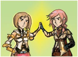 Ashe and Lightning are srs bsn by Jassikorandoms