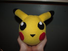 Pikachu Plushy Ball by AztecTemplar