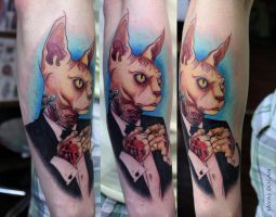 Sphynx Tattoo by Moviemetal3