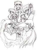 Inuyasha Group Pic by neko-yasha