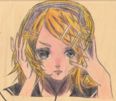 Vocaloid - Rin - Butterfly on your Right Shoulder by NatyKagamine17