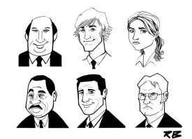 The Office Heads Part One by RADMANRB