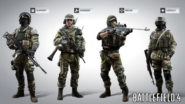 RU classes BF4 by farcrykiller225