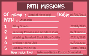 HSV - Assassin Path Missions Sheet#1 by dreamchaser21