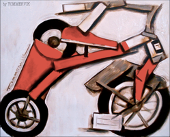 tricycle red by TOMMERVIK