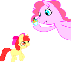 A Cupcake eating cuttie mark by Twitchy-Tremor