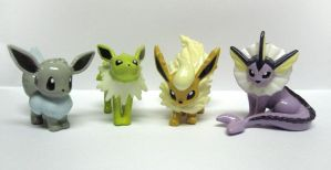 Shiny Eeveelution Repaints by caffwin