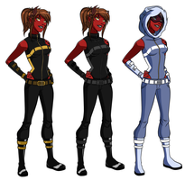 YJ: Blaze Outfits by Lady-AnnJoanne