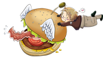 The flying hamburger by ChibiSo