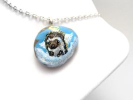 Hedgehog Pendant Necklace by sobeyondthis