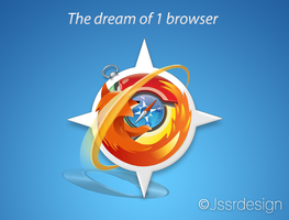 The dream of 1 browser by jeroen-tje