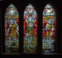 Glazed windows inside St Conan's Kirk by BusterBrownBB