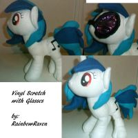 DJPON3 plush by RaiinbowRaven