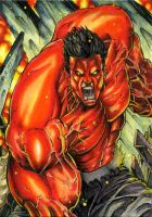 Red Hulk ATC by DKuang