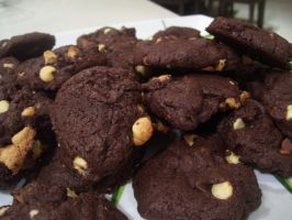 Quadruple Chocolate Cookies by No-Dogs-Allowed