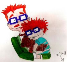 Chuckie and his Daddy. by intothewild142