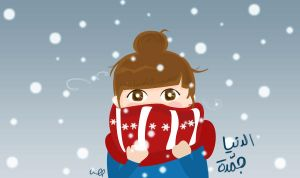 snowing by Ms-Hessah