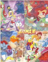 Rayman Collage by blurillaz