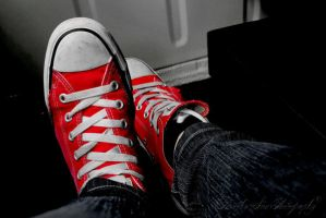 Red Converse Shoe by Timothy-Sim