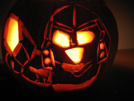 Lit-up Chibi Megatron Pumpkin by Dellessanna