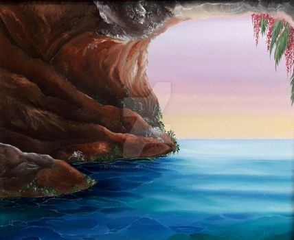 The Green Mermaid cave by BlueMomentCreations