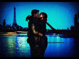 Paris Night - Sweet Kiss... by Keyre