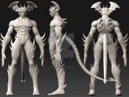 devilman zbrush by asgard-knight