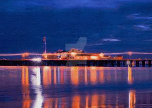 Night at the Pier by VibrantLifeStudio