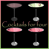 Cocktails for Four by Stock-by-Dana