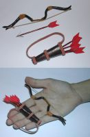 Miniature Bow and Accessories by Lizkay