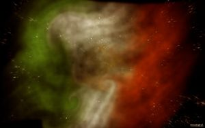 Abstract Flag by acrogenesis