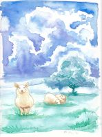 Pensive sheep by nienor