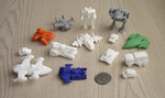 3D printed miniatures collection from Shapeways by multihawk
