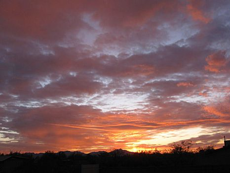 Sunset over Tucson 2009 by Greylight-S