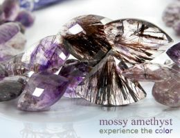 mossy amethyst - color by BeadsofCambay