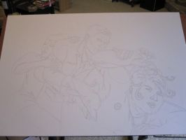 Archer painting stage 1 by BlackUmbral