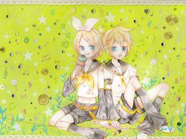 "Rin and Ren ""Vocaloid"" by aloespica109"