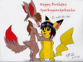 B-day gift for Sparky by Fox-under-the-stars