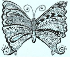 Zentangle Butterfly by Ladyegg