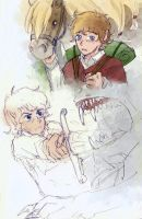 Hobbit sketches by Thrumugnyr