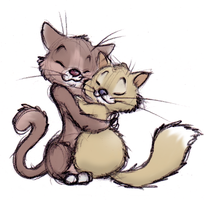 Kitty Hug by ShoJoJim