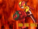 Wallpaper - MegaMan Fire Style by Shadows-Entity
