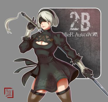 Fan art: 2B from Nier: Automata. by NewHuynh