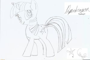 Twilight Sparkle Sketch by bpen42