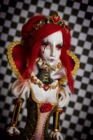 Queen of Hearts OOAK art Doll sculpt by cliodnafae27